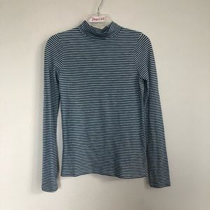 NEW Faherty Striped Turtle Neck Long Sleeve TShirt